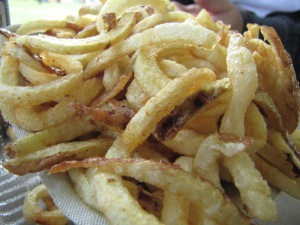 French fries freshly made from farm potatoes.
