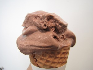 Anyone noticing a theme?  A yummy chocolate ice cream cone from Three Sisters -- I won't tell anyone if you eat it for breakfast.