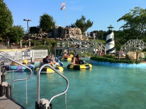 Prepare to get wet on the bumper boats...