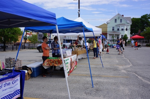 Opening day at the Providence Alternative Market.
