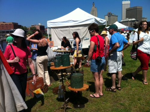 Antiques, handmade crafts, clothes and plenty of food trucks at the opening day of Providence Flea.