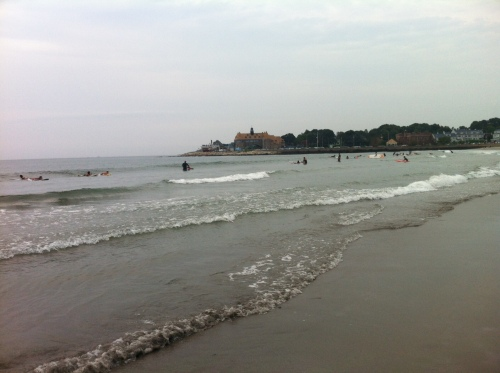 Surfing at Narragansett Town Beach