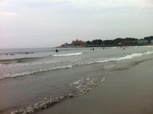 The waves at Narragansett Town Beach.