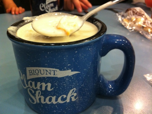 Blount Clam Shack's famous clam chowder.