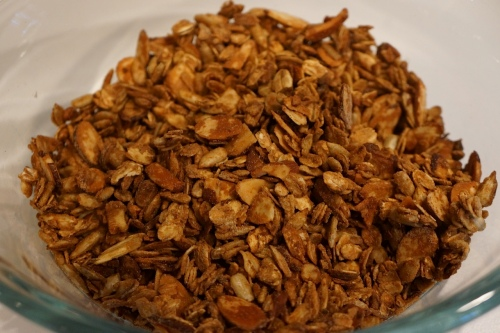 Our version of almond, sunflower seed granola inspired by the one at Blue State Coffee.