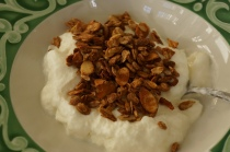 Narragansett Creamery yogurt topped with our granola.
