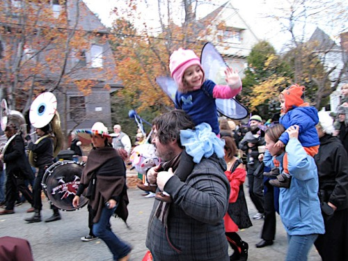 Our first year at the Brown Street Park Halloween Parade.