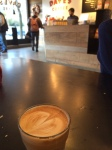 The cortado from Dave's Coffee in Providence.