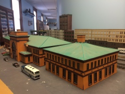 A model of the original Providence train station.