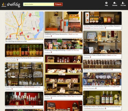 ShelfDig aims to support buying local by making it easier to browse and search Providence stores online.