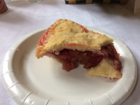 Strawberry-rhubarb pie.